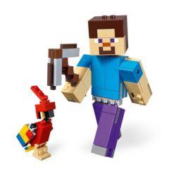 LEGO MINECRAFT 21148 BIGFIG STEVE Z PAPUGĄ