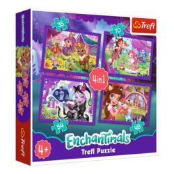 PUZZLE 4W1. ENCHANTIMALS ZABAWA Z PUPILAMI