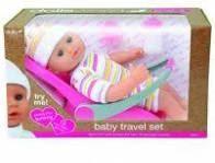 LALKA BOBAS 30 CM BABY TRAVEL SET