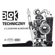 BLOK TECHNICZNY A4 CZARNY 10K.