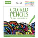 CRAYOLA CORE. KREDKI ADULT COLOURING 50 SZT.